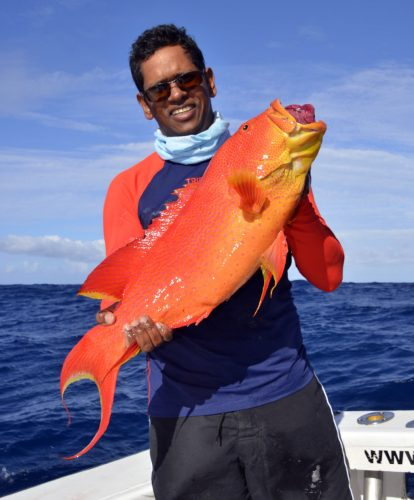 Moontail seabass by Gianni on jigging - www.rodfishingclub.com - Rodrigues - Mauritius - Indian Ocean