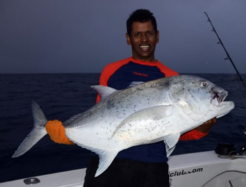 Nice GT released by Gianni on jigging - www.rodfishingclub.com - Rodrigues - Mauritius - Indian Ocean