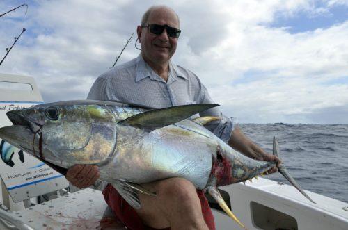 Thon jaune en pêche a la traîne par Paul - www.rodfishingclub.com - Rodrigues - Maurice - Océan Indien