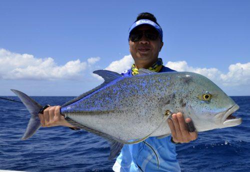 Carangue bleue en slow jigging - www.rodfishingclub.com - Rodrigues - Maurice - Océan Indien