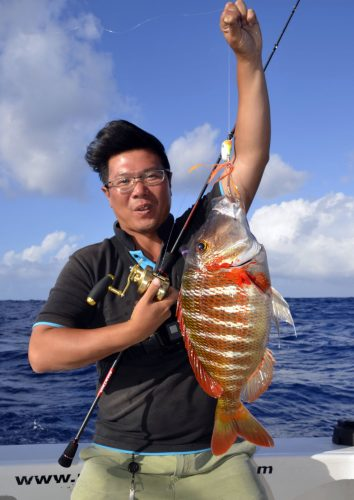 Dame berri ou Lethrinus mahsena en slow jigging - www.rodfishingclub.com - Rodrigues - Maurice - Océan Indien