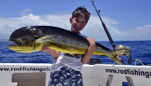 Dorade en pêche a la traîne par Mathis - www.rodfishingclub.com -Rodrigues - Maurice - Océan Indien