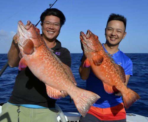 Doublé de mérous babone en slow jigging - www.rodfishingclub.com - Rodrigues - Maurice - Océan Indien