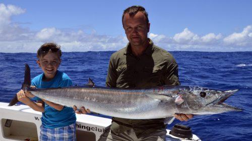 Wahoo en pêche a la traîne par Mathis - www.rodfishingclub.com -Rodrigues - Maurice - Océan Indien