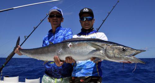 Magnifique wahoo par Yu en pêche a la traîne - www.rodfishingclub.com - Rodrigues - Maurice - Océan Indien