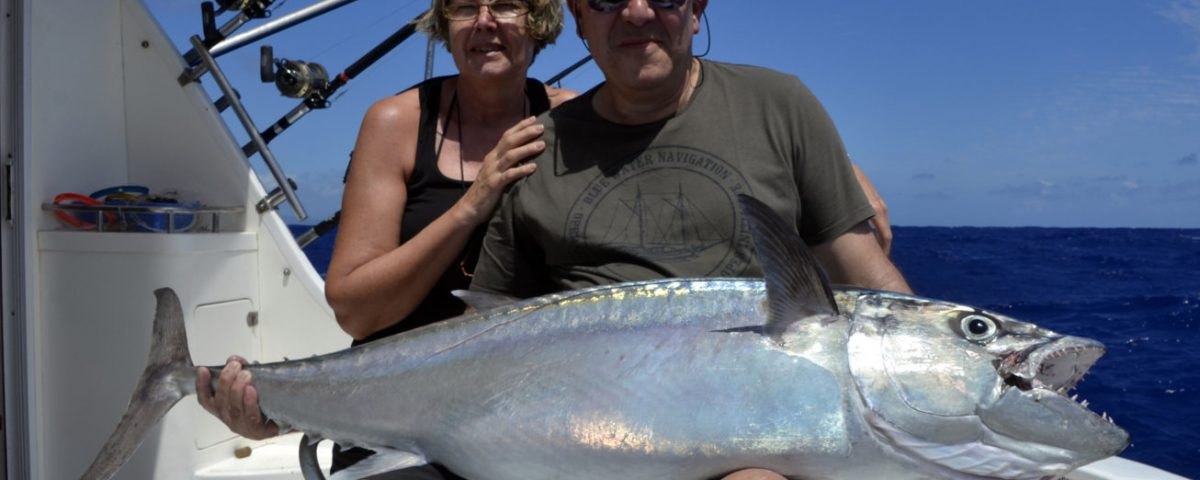 32kg doggy on livebaiting - www.rodfishingclub.com - Rodrigues - Mauritius - Indian Ocean