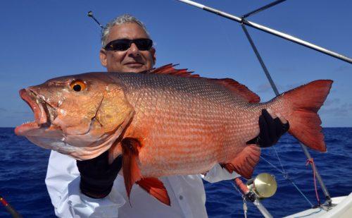 Carpe rouge en pêche a l'appât pour Raian - www.rodfishingclub.com - Rodrigues - Maurice - Océan Indien