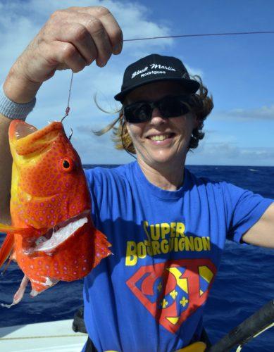 Croissant queue jaune coupé en pêche a l'appât - www.rodfishingclub.com - Rodrigues - Maurice - Océan Indien