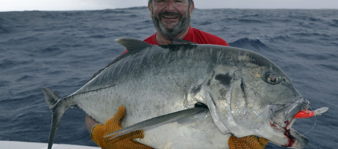 GT prise sur un speed pro deep - www.rodfishingclub.com - Rodrigues - Maurice - Océan Indien