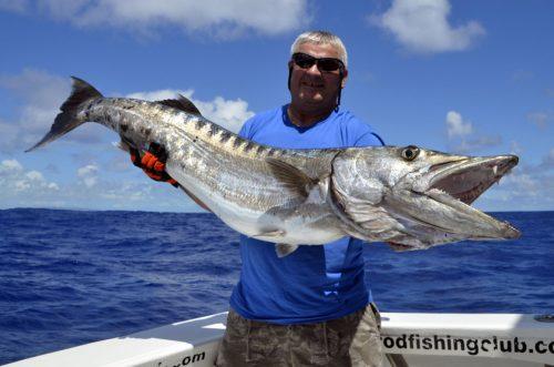 Gros barracuda pris en pêche au jig - www.rodfishingclub.com - Rodrigues - Maurice - Océan Indien