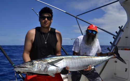 Gros wahoo en pêche a la traîne - www.rodfishingclub.com - Rodrigues - Maurice - Océan Indien