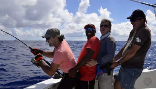 Laughing fight aboard Black Marlin - www.rodfishingclub.com - Rodrigues - Mauritius - Indian Ocean