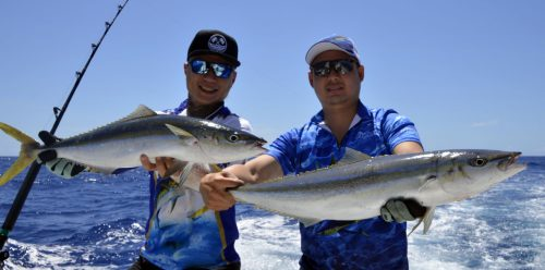 Rainbow runners on slow jigging - www.rodfishingclub.com - Rodrigues - Mauritius - Indian Ocean