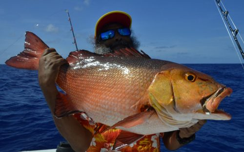 Red snapper on baiting for David - www.rodfishingclub.com - Rodrigues - Mauritius - Indian Ocean