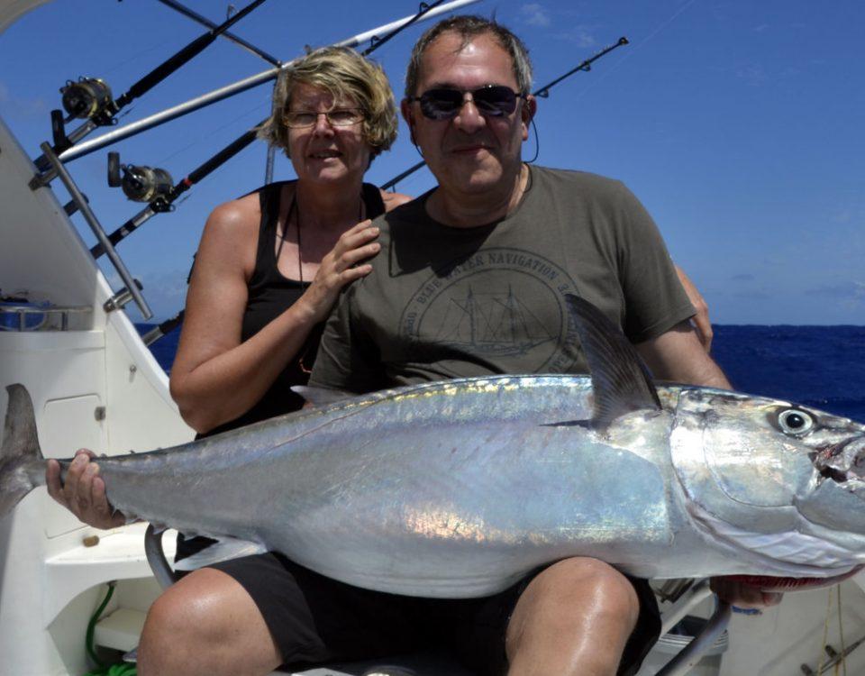 Thon dents de chien de 32kg en pêche au vif - www.rodfishingclub.com - Rodrigues - Maurice - Océan Indien