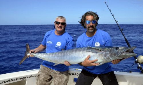 Wahoo caught on heavy spinning by Bruno - www.rodfishingclub.com - Rodrigues - Mauritius - Indian Ocean