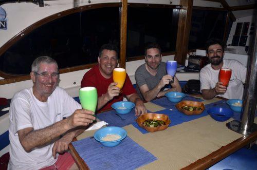 Cheers aboard Black Marlin - www.rodfishingclub.com - Rodrigues - Mauritius - Indian Ocean