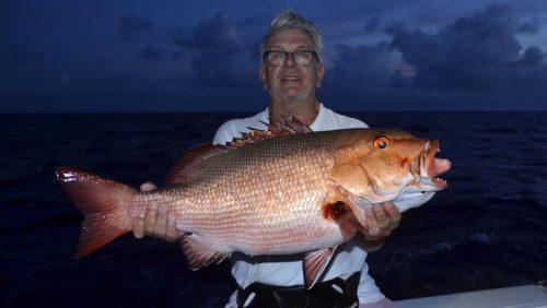 Carpe rouge en pêche a l'appât par Maurice - www.rodfishingclub.com - Rodrigues - Maurice - Océan Indien