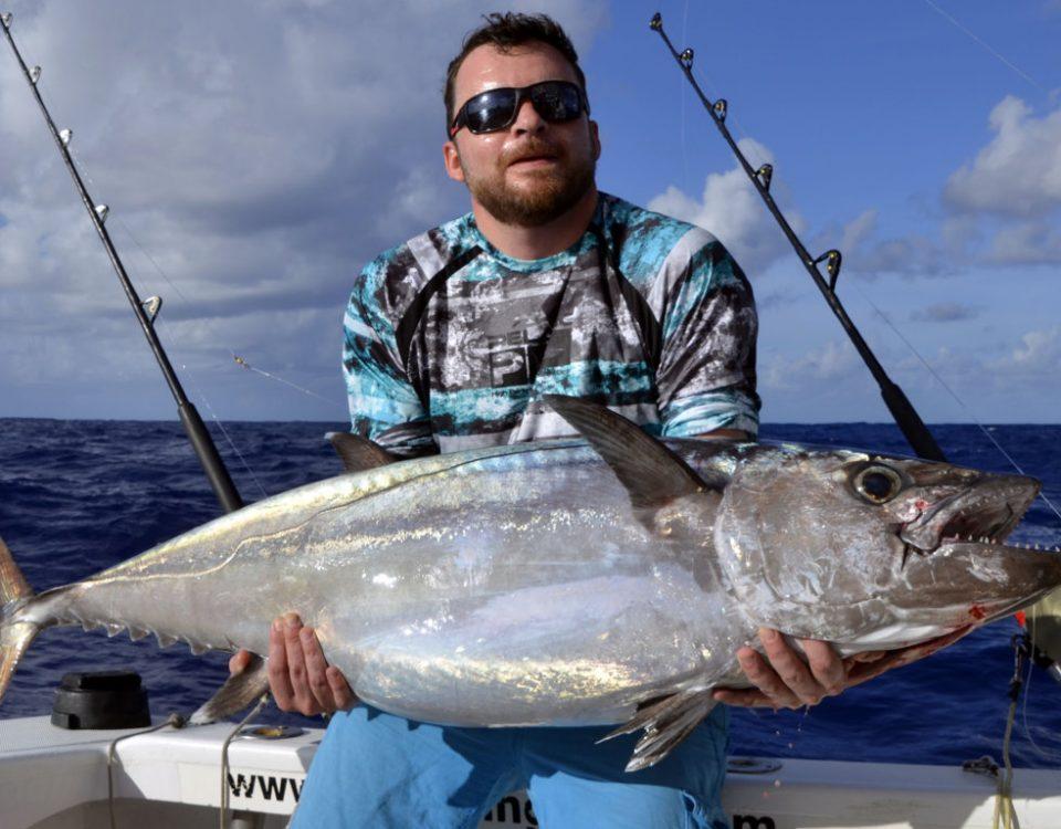 Dogtooth tuna on trolling by Seb - www.rodfishingclub.com - Rodrigues - Mauritius - Indian Ocean