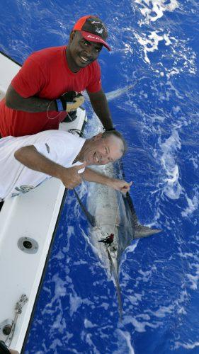 Marlin noir en pêche a la traine par Christian - www.rodfishingclub.com - Rodrigues - Maurice - Océan Indien