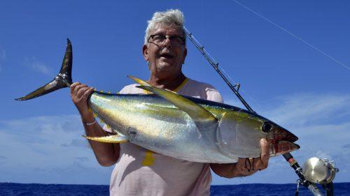 Thon jaune en pêche a la traîne par Maurice - www.rodfishingclub.com - Rodrigues - Maurice - Océan Indien