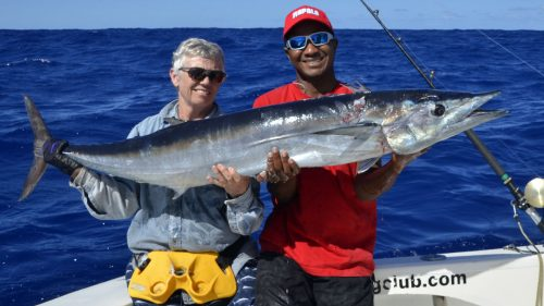 Gros wahoo en peche a la traine - www.rodfishingclub.com - Rodrigues - Maurice - Ocean Indien