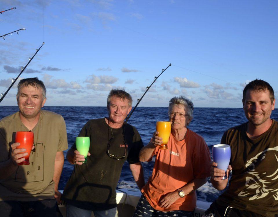 L 'equipe au complet de la Jaws Team - www.rodfishingclub.com - Rodrigues - Maurice - Ocean Indien