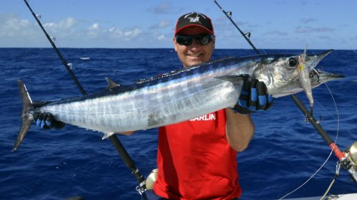 Wahoo on trolling with a Williamson Speed Pro Deep - www.rodfishingclub.com - Rodrigues - Mauritius - Indian Ocean