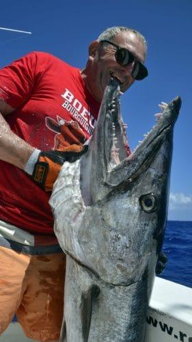 28.7kg barracuda by Philippe as new club record - www.rodfishingclub.com - Rodrigues - Mauritius - Indian Ocean