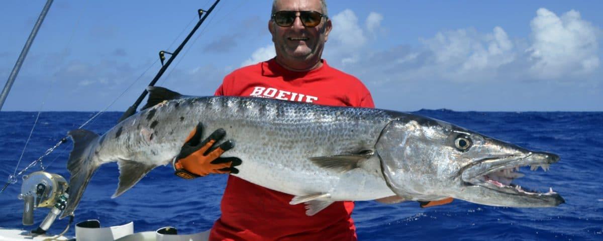 Big barracuda on livebaiting by Philippe - www.rodfishingclub.com - Rodrigues - Mauritius - Indian Ocean
