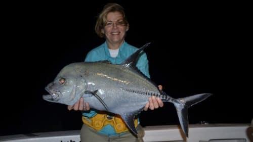 Carangue lugubris en peche a l appat par Christine - www.rodfishingclub.com - Rodrigues - Maurice - Ocean Indien