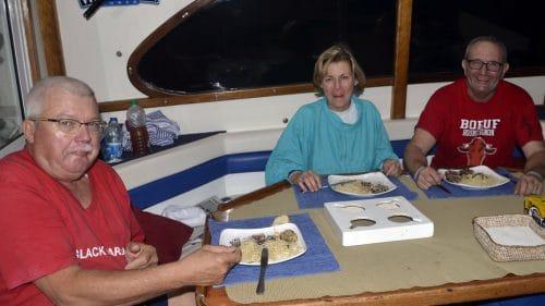 Dinner on Black Marlin boat - www.rodfishingclub.com - Rodrigues - Mauritius - Indian Ocean
