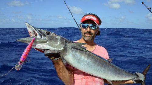 Wahoo sur un Speed Pro Deep Williamson - www.rodfishingclub.com - Rodrigues - Maurice - Océan Indien