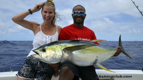 Yellowfin tuna on trolling by Jeni - www.rodfishingclub.com - Rodrigues - Mauritius - Indian Ocean