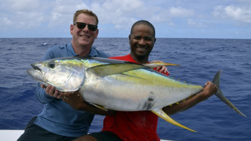 Yellowfin tuna on trolling by Mathias - www.rodfishingclub.com - Rodrigues - Mauritius - Indian Ocean