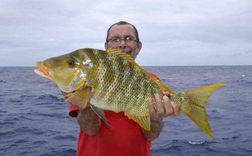 Capitaine en peche au jig par Pascal - www.rodfishingclub.com - Rodrigues - Maurice - Océan Indien
