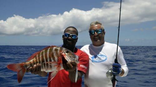 Dame berri en slow jigging - www.rodfishingclub.com - Rodrigues - Maurice - Océan Indien