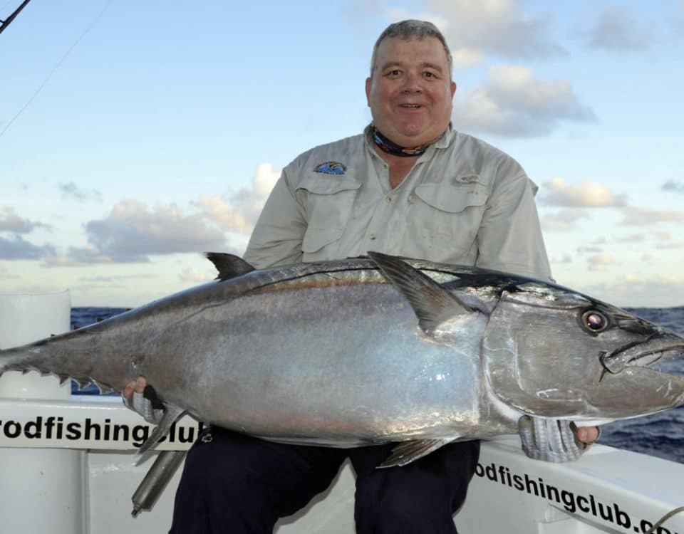 Dogtooth tuna on live baiting - www.rodfishingclub.com - Rodrigues - Mauritius - Indian Ocean