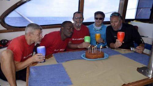 Happy birthday on Black Marlin boat - www.rodfishingclub.com - Rodrigues - Mauritius - Indian Ocean