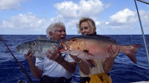 Jobfish and red snapper on baiting - www.rodfishingclub.com - Rodrigues - Mauritius - Indian Ocean