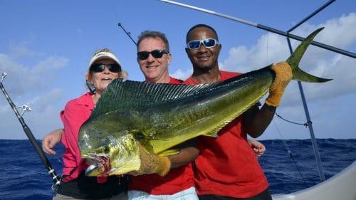 Dorade en peche a la traine - www.rodfishingclub.com - Rodrigues - Maurice - Océan Indien