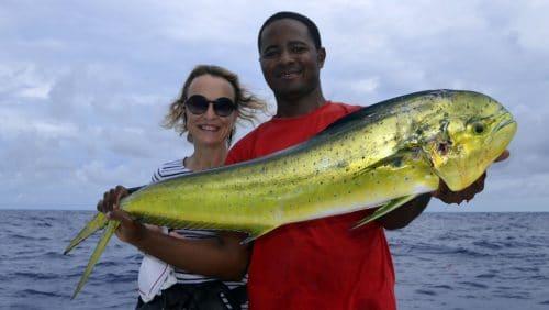 Dorado on trolling - www.rodfishingclub.com - Rodrigues - Mauritius - Indian Ocean