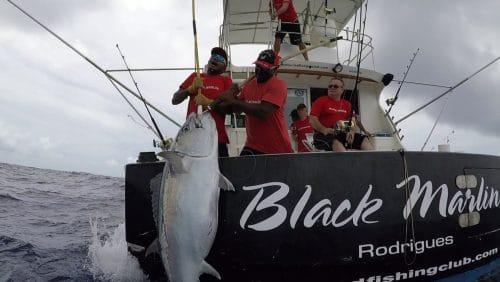 Gros thon dents de chien en peche au vif - www.rodfishingclub.com - Rodrigues - Maurice - Océan Indien
