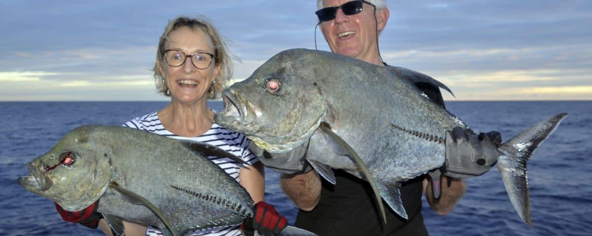 Lugubris trevallies on baiting - www.rodfishingclub.com - Rodrigues - Mauritius - Indian Ocean