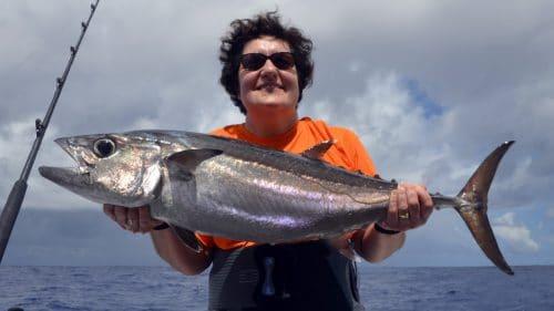 Thon dents de chien en peche a la traine - www.rodfishingclub.com - Rodrigues - maurice - ocean indien