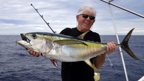 Thon jaune en peche a la traine par JL - www.rodfishingclub.com - Rodrigues - Maurice - Ocean Indien