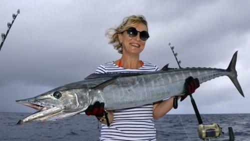 Wahoo on trolling by Anne - www.rodfishingclub.com - Rodrigues - Mauritius - Indian Ocean