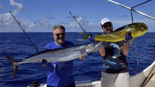 Dorade et wahoo en peche a la traine - www.rodfishingclub.com - Rodrigues - Maurice - Ocean Indien