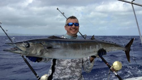 Wahoo on trolling by Gilles - www.rodfishingclub.com - Rodrigues - Mauritius - Indian Ocean