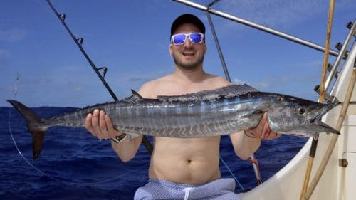 Wahoo on trolling by Julien - www.rodfishingclub.com - Rodrigues - Mauritius - Indian Ocean